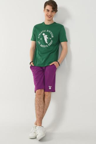 ADELANTO Yeşil Bisiklet Yaka Baskılı Erkek T-shirt - Thumbnail (4)