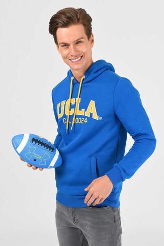 UCLA - ALTO Mavi Kapüşonlu Baskılı Erkek Sweatshirt