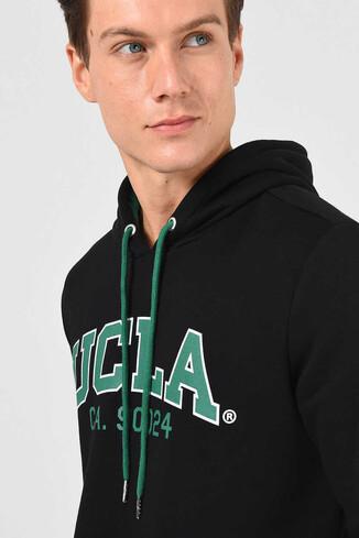 UCLA - ALTO Siyah Kapüşonlu Baskılı Erkek Sweatshirt (1)