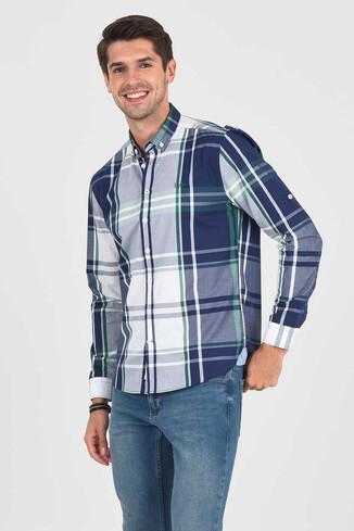 UCLA - APROS Yeşil Kareli Erkek Gömlek (1)