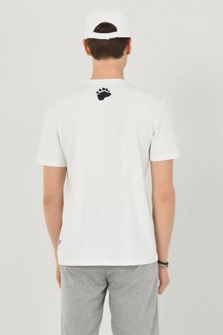 APTOS Beyaz Bisiklet Yaka Baskılı Erkek T-shirt - Thumbnail (4)