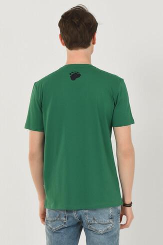 APTOS Yeşil Bisiklet Yaka Baskılı Erkek T-shirt - Thumbnail (3)
