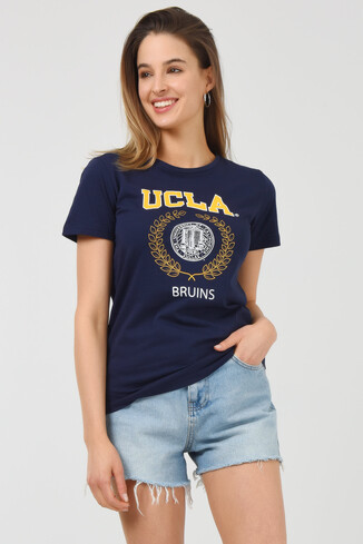 UCLA - ARTESIA Lacivert Bisiklet Yaka Kadın T-shirt