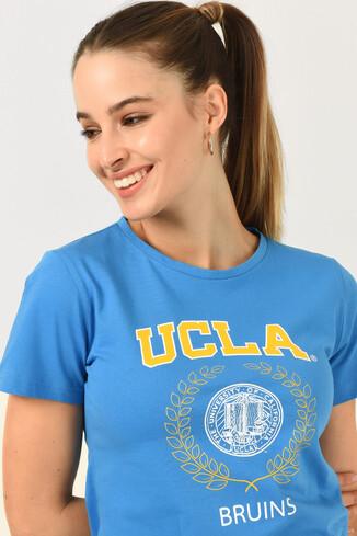 UCLA - ARTESIA Mavi Bisiklet Yaka Kadın T-shirt (1)