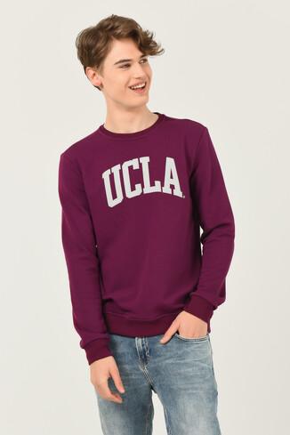 UCLA - BALDWIN Mor Bisiklet Yaka Baskılı Erkek Sweatshirt (1)
