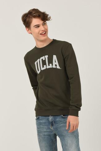 UCLA - BALDWIN Yeşil Bisiklet Yaka Baskılı Erkek Sweatshirt