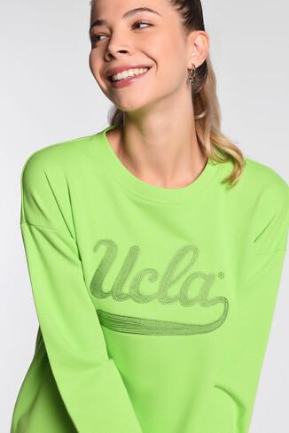 UCLA - BARBARA Yeşil Oversize Nakışlı Kadın Sweatshirt (1)