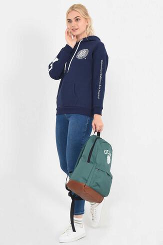 UCLA - BLUFF Lacivert Kapüşonlu Baskılı Kadın Sweatshirt (1)