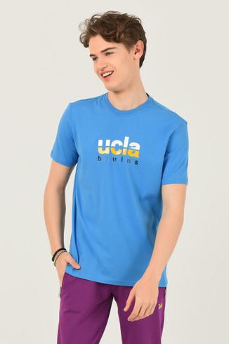 UCLA - BORON Mavi Bisiklet Yaka Baskılı Erkek T-shirt