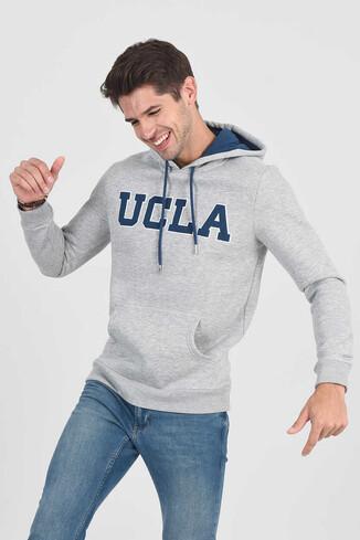 UCLA - BRADLEY Gri Kapüşonlu Erkek Sweatshirt
