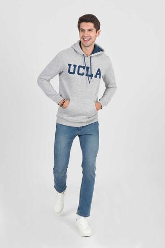 UCLA - BRADLEY Gri Kapüşonlu Erkek Sweatshirt (1)