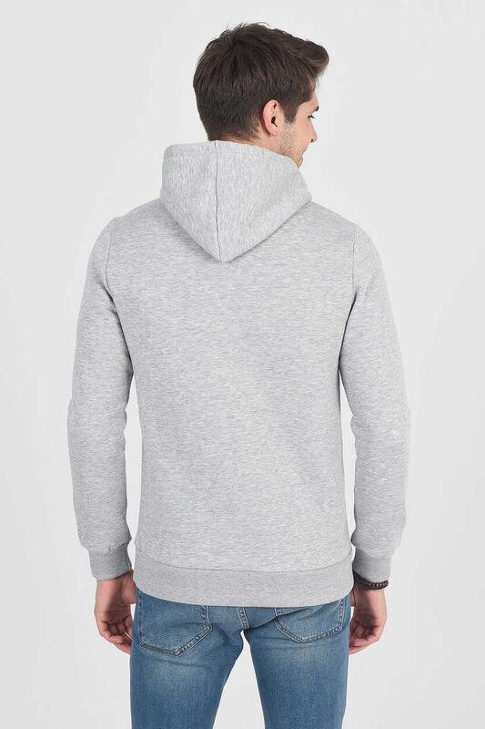 BRADLEY Gri Kapüşonlu Erkek Sweatshirt - Thumbnail