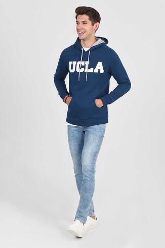 UCLA - BRADLEY Lacivert Kapüşonlu Erkek Sweatshirt (1)