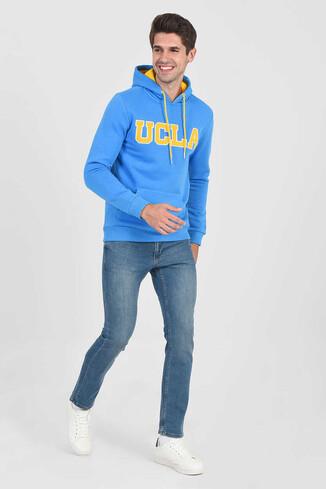 UCLA - BRADLEY Mavi Kapüşonlu Erkek Sweatshirt