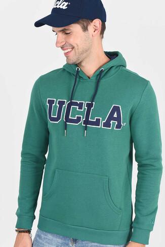UCLA - BRADLEY Yeşil Kapüşonlu Erkek Sweatshirt