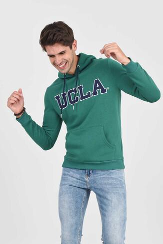 UCLA - BRADLEY Yeşil Kapüşonlu Erkek Sweatshirt (1)