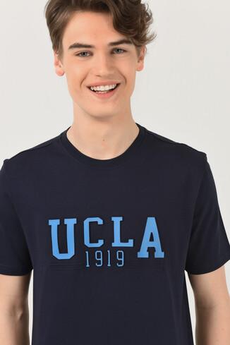 UCLA - CABAZON Lacivert Bisiklet Yaka Baskılı Erkek T-shirt (1)