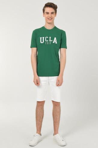 CABAZON Yeşil Bisiklet Yaka Baskılı Erkek T-shirt - Thumbnail (2)