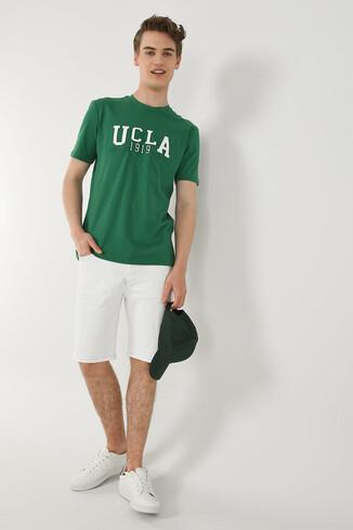 CABAZON Yeşil Bisiklet Yaka Baskılı Erkek T-shirt - Thumbnail (4)