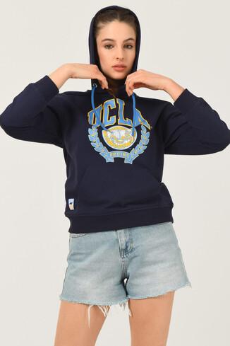 UCLA - CAMBRIA Lacivert Kapüşonlu Kadın Sweatshirt