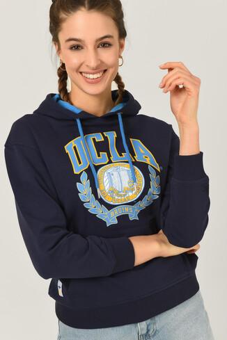 UCLA - CAMBRIA Lacivert Kapüşonlu Kadın Sweatshirt (1)