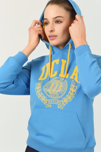 UCLA - CAMBRIA Mavi Kapüşonlu Kadın Sweatshirt (1)