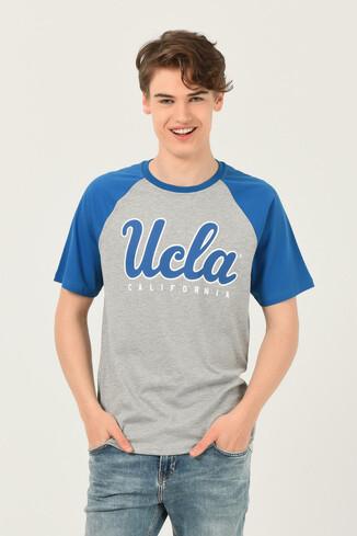 UCLA - CANYON Gri Bisiklet Yaka Erkek T-shirt