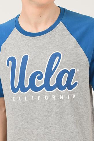 UCLA - CANYON Gri Bisiklet Yaka Erkek T-shirt (1)