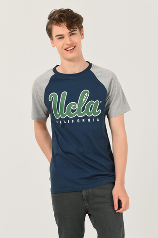 UCLA - CANYON Mavi Bisiklet Yaka Erkek T-shirt