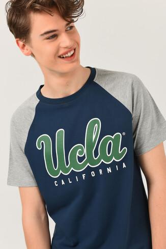 UCLA - CANYON Mavi Bisiklet Yaka Erkek T-shirt (1)