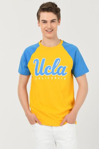 UCLA - CANYON Sarı Bisiklet Yaka Erkek T-shirt