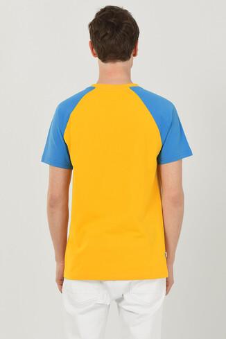 CANYON Sarı Bisiklet Yaka Erkek T-shirt - Thumbnail (3)