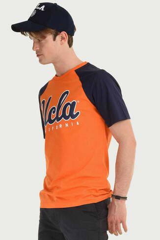 UCLA - CANYON Turuncu Bisiklet Yaka Erkek T-shirt (1)
