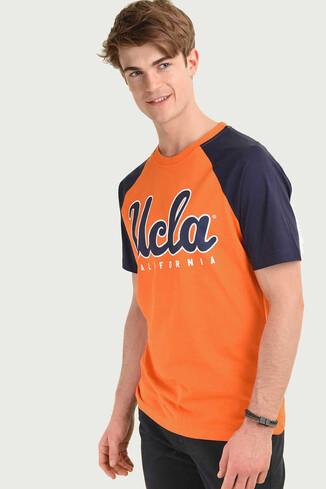UCLA - CANYON Turuncu Bisiklet Yaka Erkek T-shirt