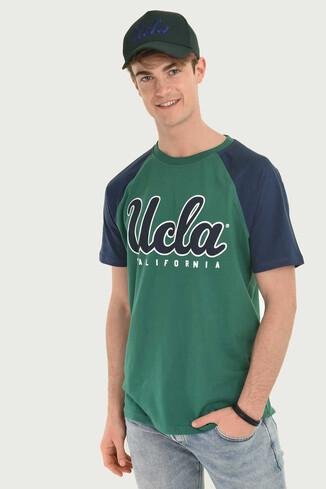 UCLA - CANYON Yeşil Bisiklet Yaka Erkek T-shirt (1)