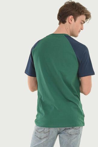 CANYON Yeşil Bisiklet Yaka Erkek T-shirt - Thumbnail (2)
