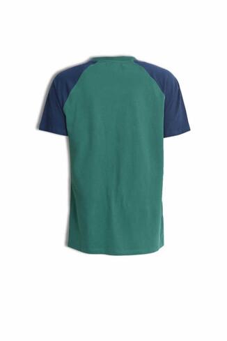 CANYON Yeşil Bisiklet Yaka Erkek T-shirt - Thumbnail (5)