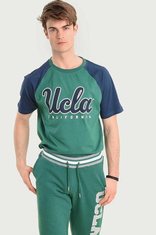 CANYON Yeşil Bisiklet Yaka Erkek T-shirt - Thumbnail