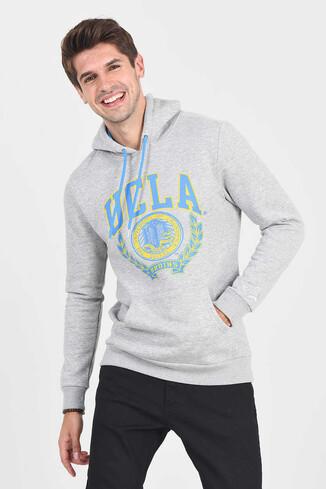 UCLA - CHARLES Gri Kapüşonlu Erkek Sweatshirt