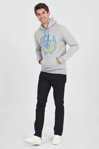 UCLA - CHARLES Gri Kapüşonlu Erkek Sweatshirt (1)