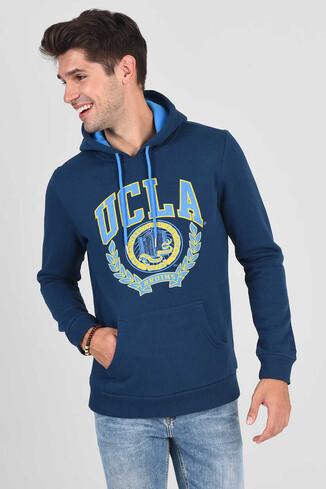 UCLA - CHARLES Lacivert Kapüşonlu Erkek Sweatshirt