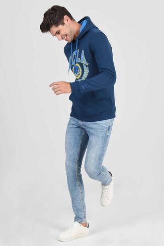 UCLA - CHARLES Lacivert Kapüşonlu Erkek Sweatshirt (1)