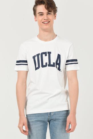 UCLA - COLUSA Beyaz Bisiklet Yaka Erkek T-shirt (1)