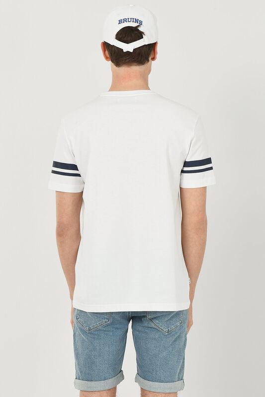 COLUSA Beyaz Bisiklet Yaka Erkek T-shirt - Thumbnail