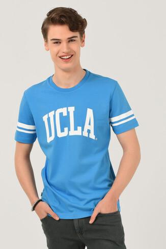 UCLA - COLUSA Mavi Bisiklet Yaka Erkek T-shirt