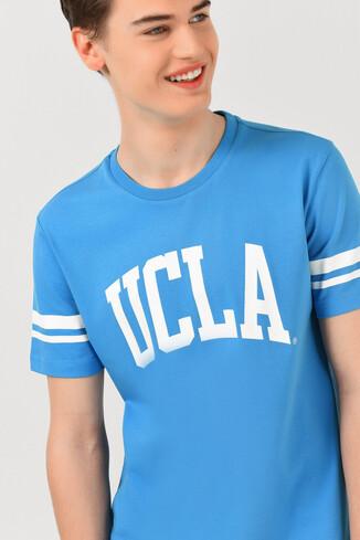 UCLA - COLUSA Mavi Bisiklet Yaka Erkek T-shirt (1)