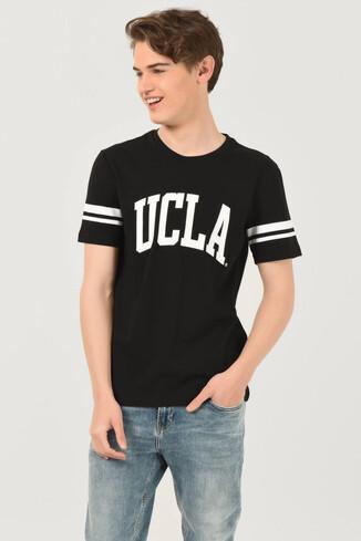 UCLA - COLUSA Siyah Bisiklet Yaka Erkek T-shirt