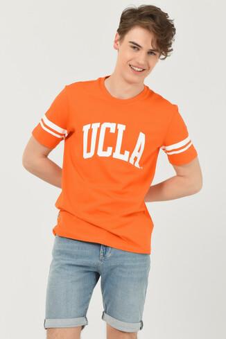 UCLA - COLUSA Turuncu Bisiklet Yaka Erkek T-shirt