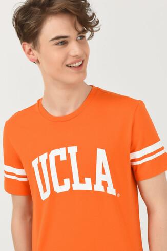UCLA - COLUSA Turuncu Bisiklet Yaka Erkek T-shirt (1)
