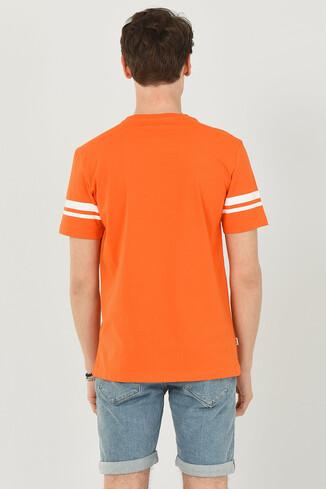 COLUSA Turuncu Bisiklet Yaka Erkek T-shirt - Thumbnail (3)